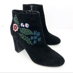 Shoes - Nanette Lepore Chunky Suede Ankle Boots Heels